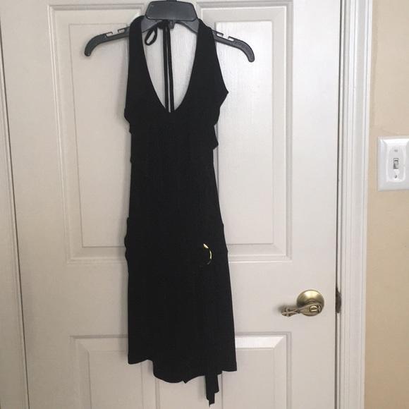 Cache Dresses & Skirts - Black cache halter dress